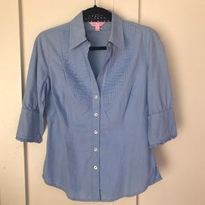 Lily Pulitzer | Chambray Button Up Blouse